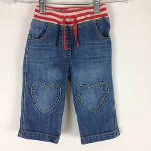 Baby Boden 12-18 months Hear Knee Patch Jeans